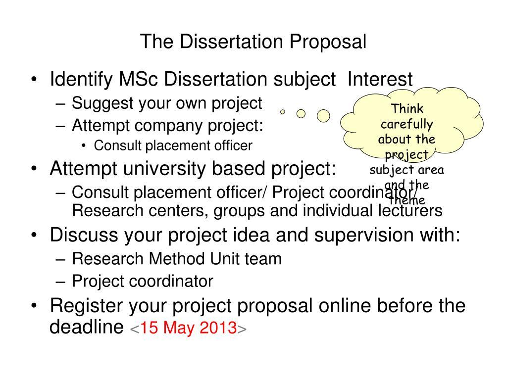 Msc dissertation online