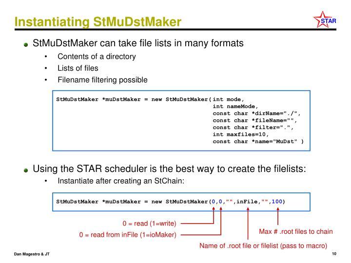 Instantiating StMuDstMaker