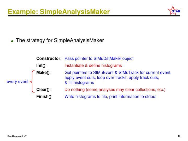 Example: SimpleAnalysisMaker