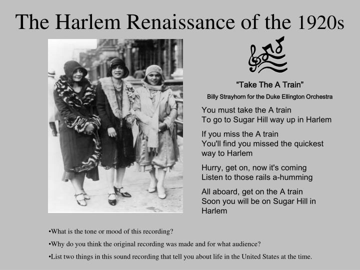 an overview of the african american culture expansion during the 1920s in harlem Private concerns preoccupied most americans during the 1920s until the great depression of the next decade, when increasing numbers turned, in their collective misfortune, to government for solutions to economic problems that challenged the very basis of us capitalistic society.