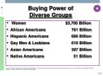 buying power of diverse groups