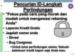 pencurian id langkah perlindungan