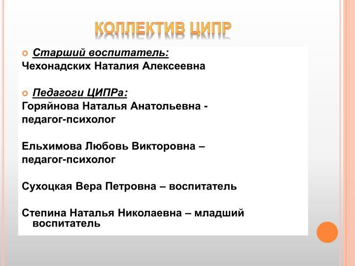 Коллектив ЦИПР