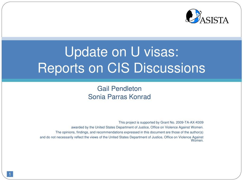 update on u visas reports on cis discussions