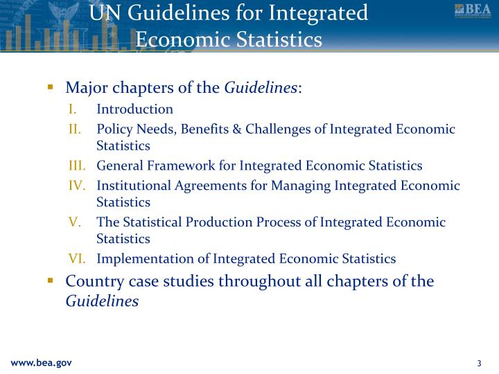 Un guidelines for integrated economic statistics1