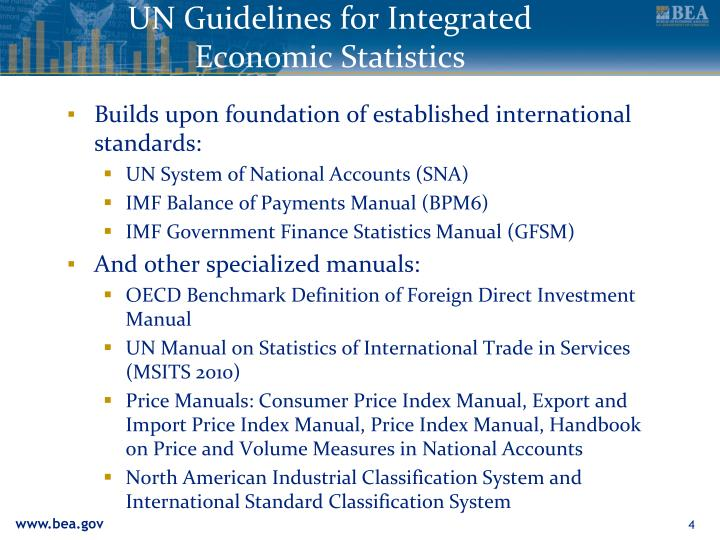 UN Guidelines for Integrated Economic Statistics