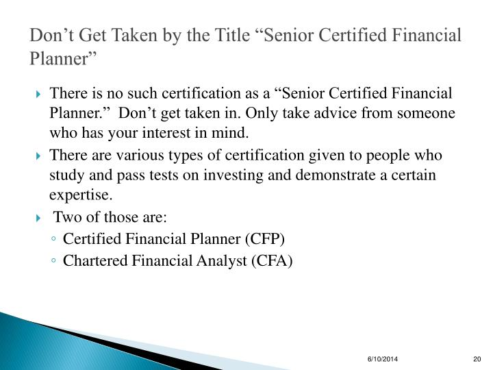 how to get certified financial planner designation