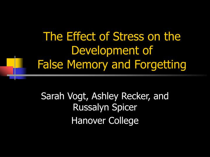 an analysis of false memory How false memories are created and can affect our ability to recall false memories and false memory syndrome many of us experience false memories without even.