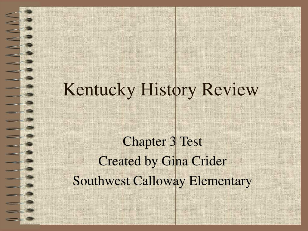 kentucky history review l.