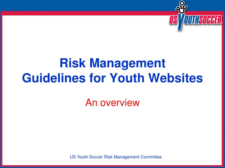 Risk management guidelines for youth websites
