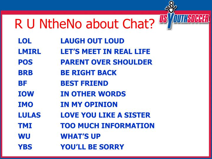 R U NtheNo about Chat?