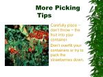 more picking tips