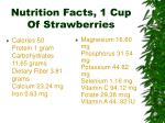 nutrition facts 1 cup of strawberries