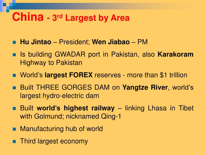 China 3 rd largest by area