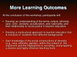 more learning outcomes