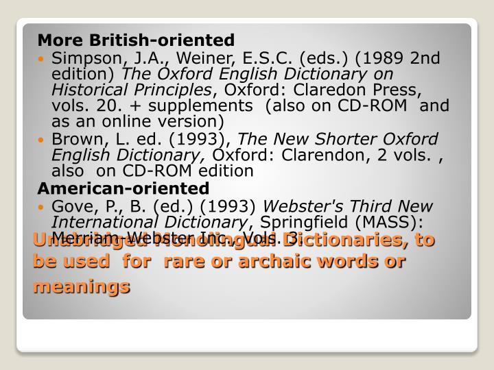 More British-oriented