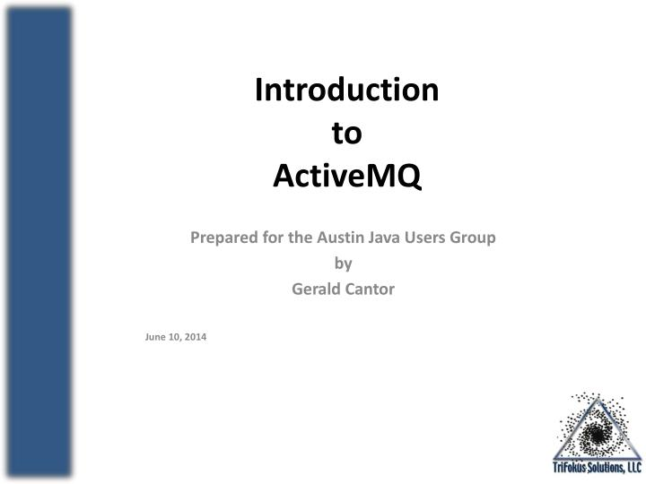 introduction to activemq n.