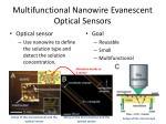 multifunctional nanowire evanescent optical sensors