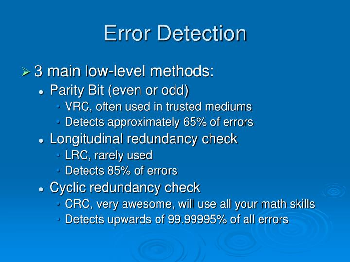 Error detection1
