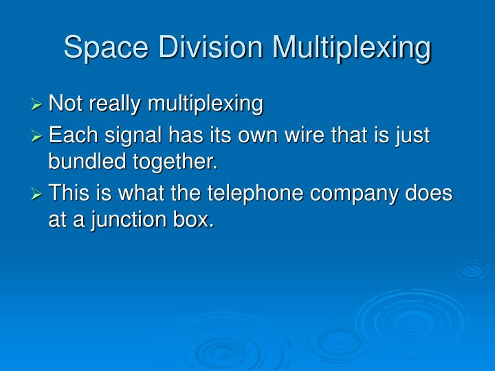 Space Division Multiplexing