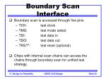 boundary scan interface