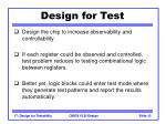 design for test