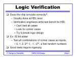 logic verification
