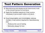 test pattern generation