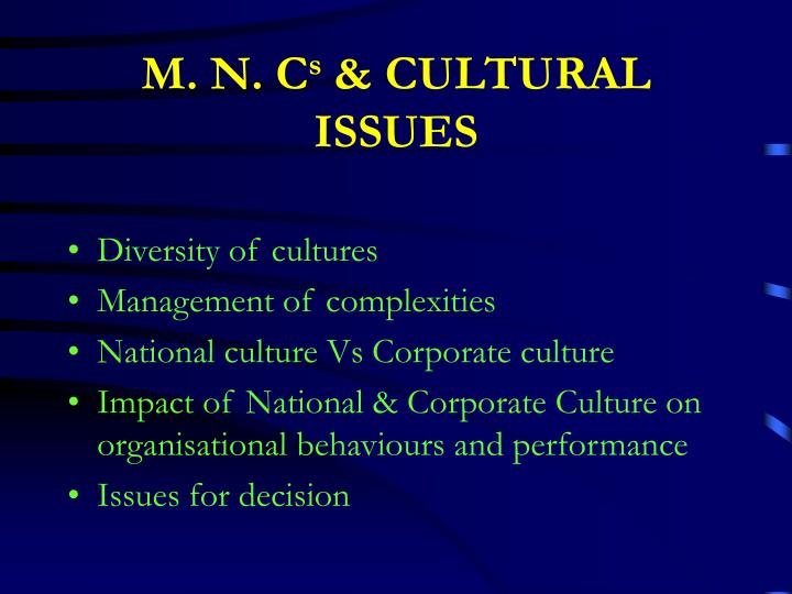 the impact of national cultures on Culture influences education in many ways here the individualist and collectivist cultural perspectives on education are compared.