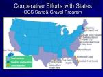 cooperative efforts with states ocs sand gravel program