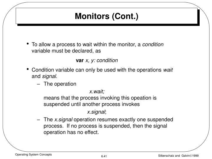 Monitors (Cont.)
