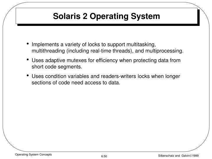 Solaris 2 Operating System