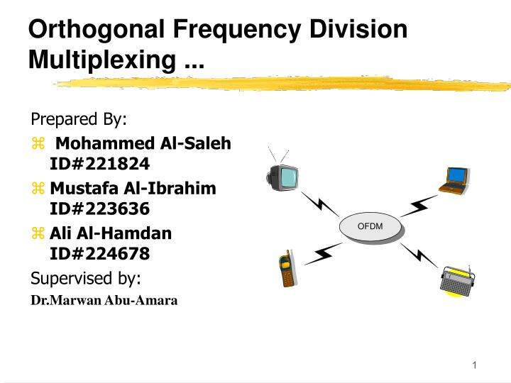 orthogonal frequency division multiplexing n.