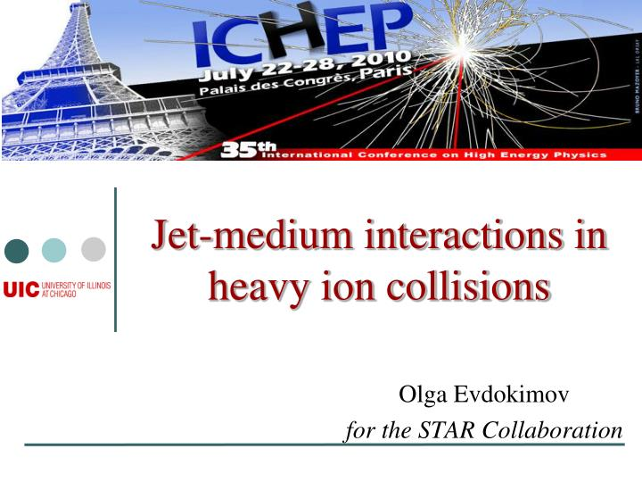 Jet medium interactions in heavy ion collisions