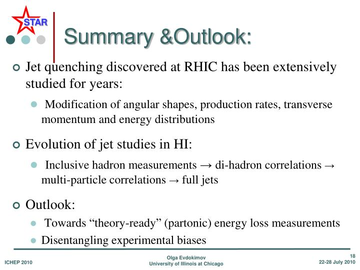 Summary &Outlook:
