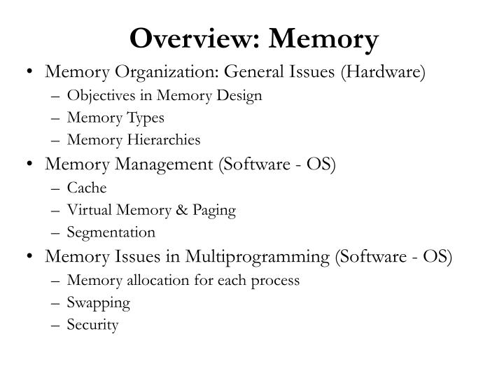 overview memory n.