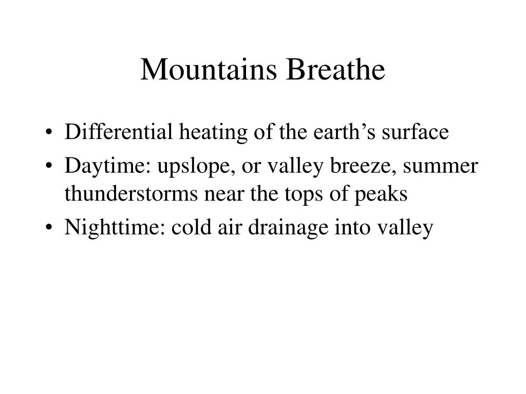 Mountains Breathe