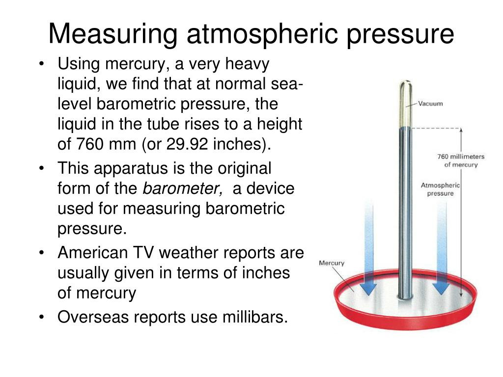 Measuring atmospheric pressure