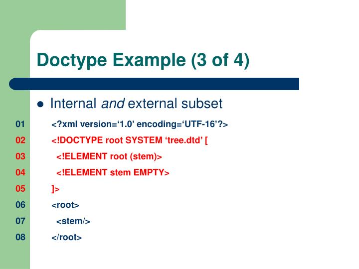 Doctype Example (3 of 4)