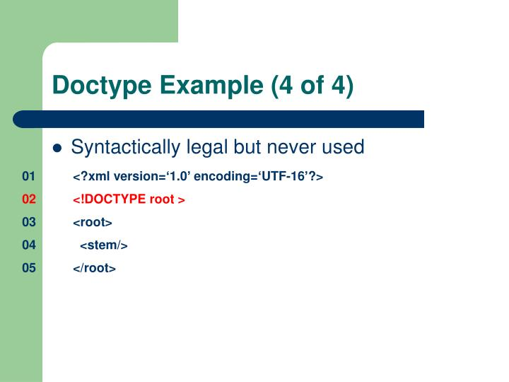Doctype Example (4 of 4)