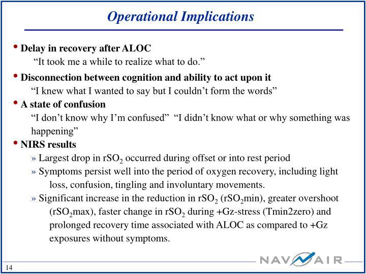 Operational Implications