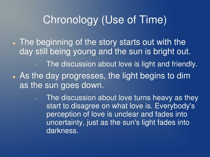 Chronology (Use of Time)
