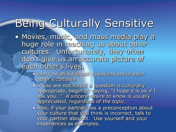 Being Culturally Sensitive