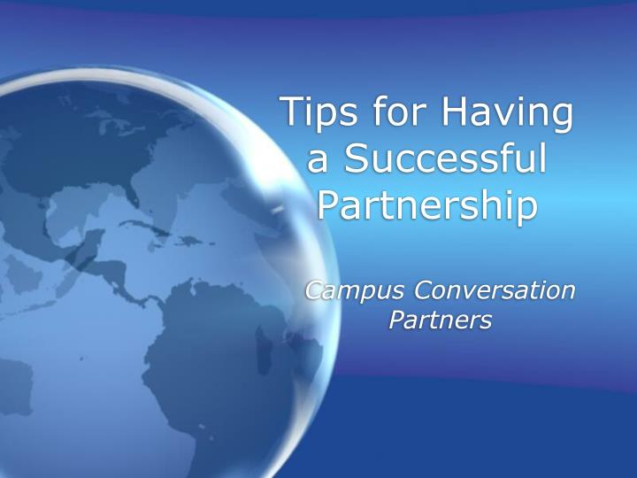 tips for having a successful partnership n.