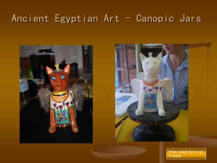 Ancient Egyptian Art - Canopic Jars