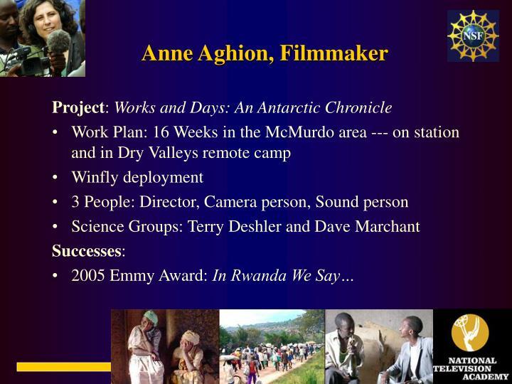 Anne Aghion, Filmmaker