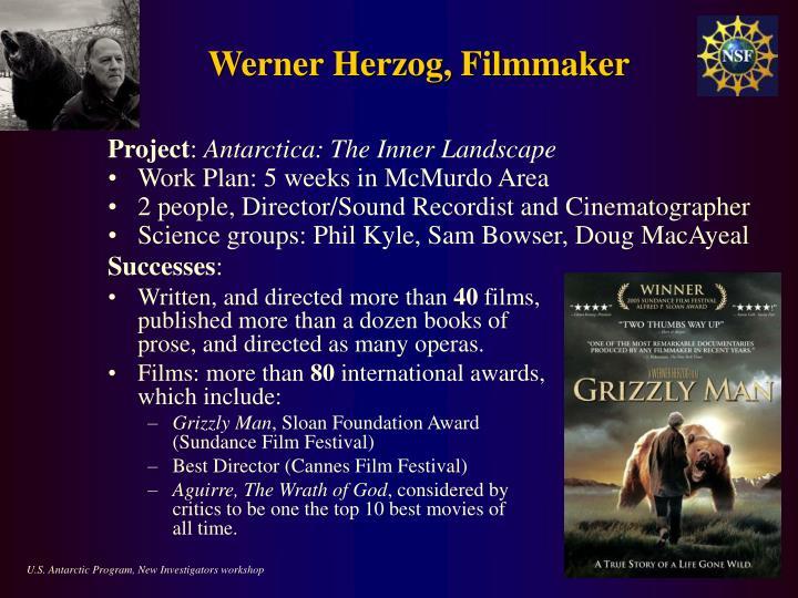Werner Herzog, Filmmaker