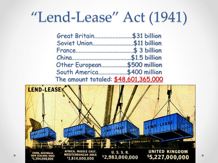 """""""Lend-Lease"""" Act (1941)"""