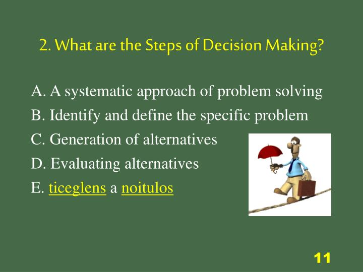 2. What are the Steps of Decision Making?