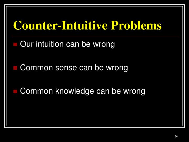 Counter-Intuitive Problems